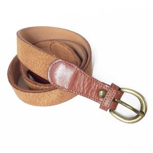 Brown Carpincho Leather Belt 42